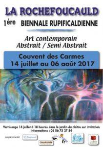 Affiche 1ère biennale d'art contemporain de La Rochefoucauld