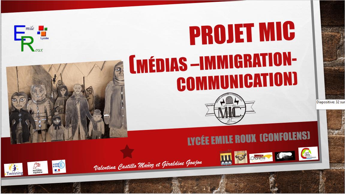 Projet MIC (Médias - Immigration - Communication)